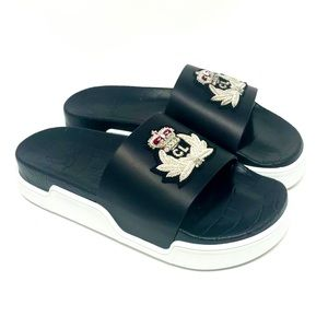Brand New Christian Louboutin PoolBeau Calf Slides